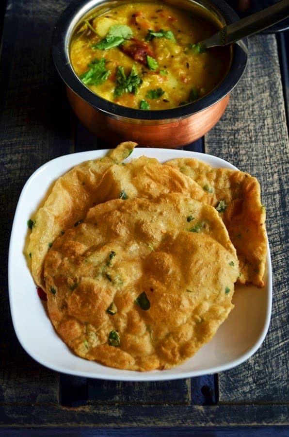Methi Puri Recipe, how to make methi puri