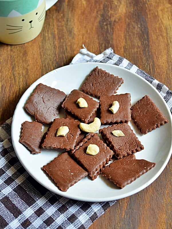 quick chocolate burfi recipe