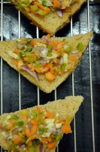 vegetable cheese toast step 3