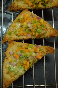 vegetable cheese toast step 4