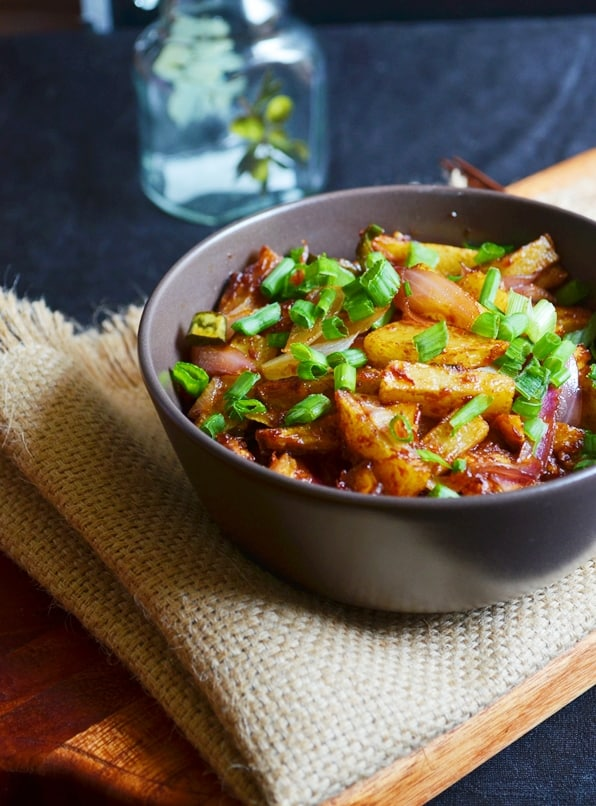Chilli potato dry recipe 1
