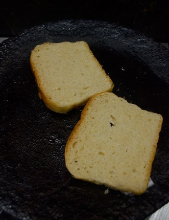 making easy sooji toast recipe