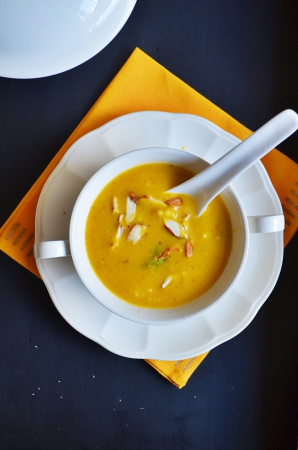 carrots almond oats soup recipe4