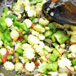 double beans methi pulao step4