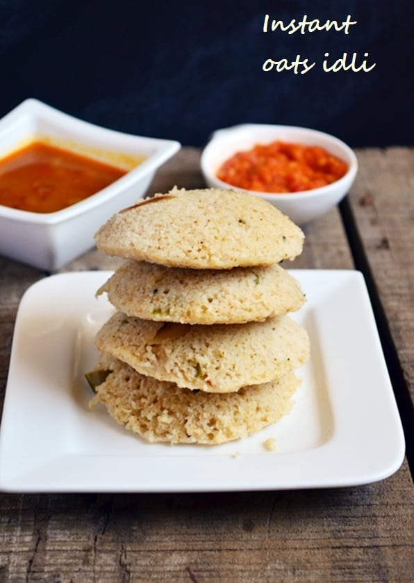 instant oats idli recipe
