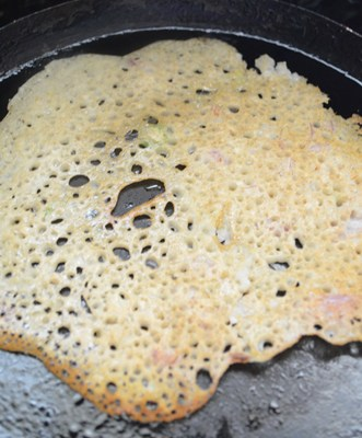 preparing oats dosa