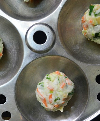 Making veg manchurian recipe - veg balls ready to fry