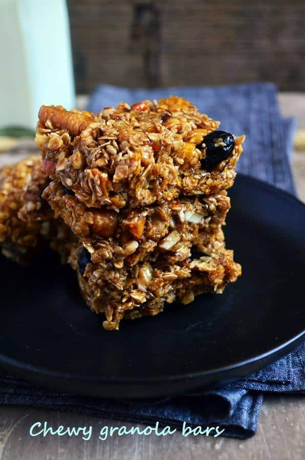 Chewy granola bars recipe