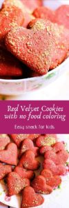 Natural red velvet cookies