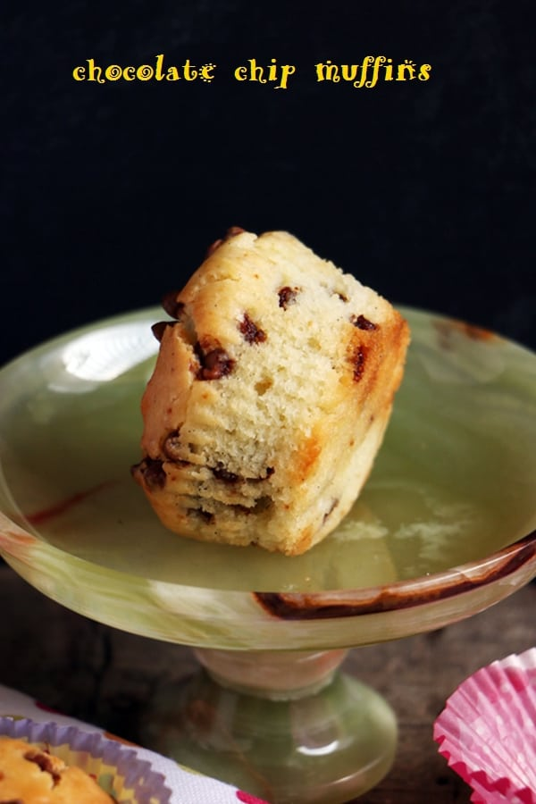 eggless choco chip muffins recipe b