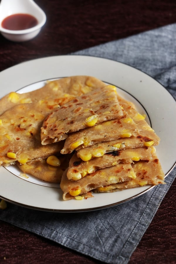 cheese corn paratha recipe c