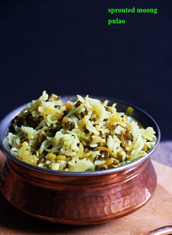 sprouted moong pulao recipe1