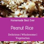 Peanut rice recipe