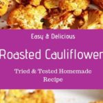 Oven roasted cauliflower