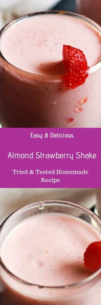Almond strawberry milkshake recipe