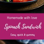 Spinach and cheese sandwich recipe