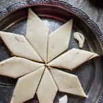Soft melt in moutb kaju katli served in a silver plate