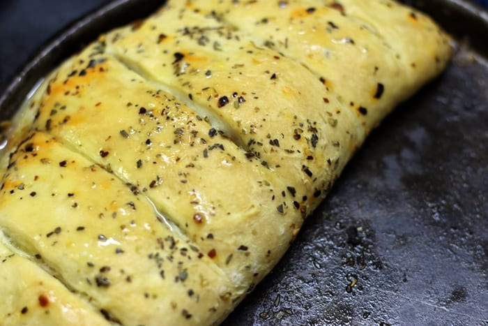 stuffed garlic bread step 9