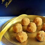 Aval Laddu Recipe served on a brass plate