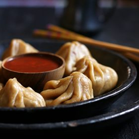 whole wheat momos