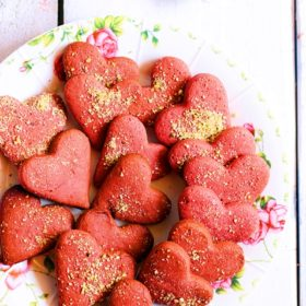 red velvet cookies with beetroot.