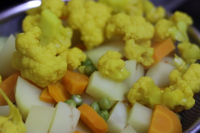 veggies for pav bhaji recipe