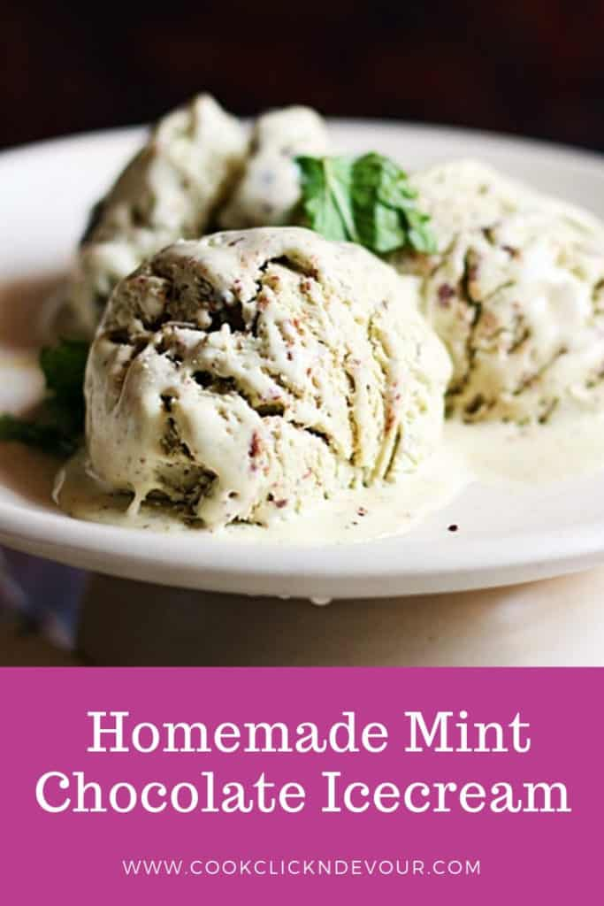 mint chocolate ice cream