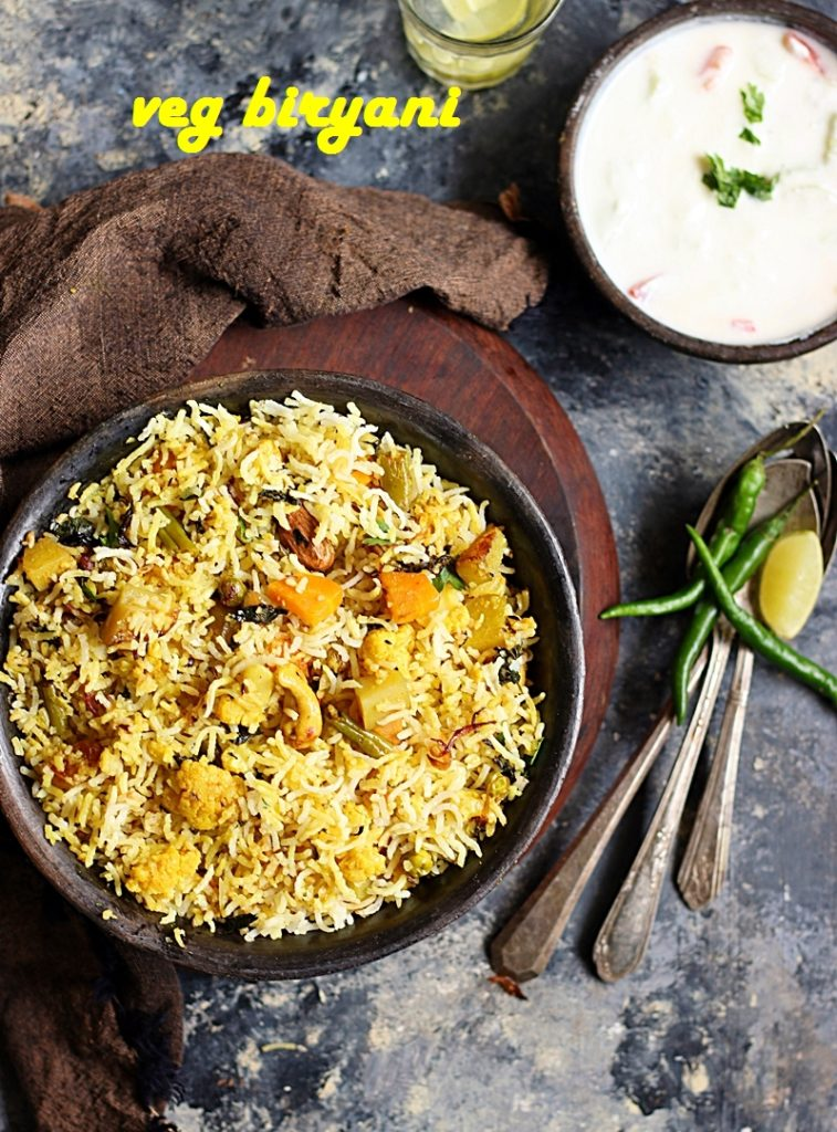 Veg Biryani Recipe Hyderabadi Style How To Make Veg Dum Biryani Recipe