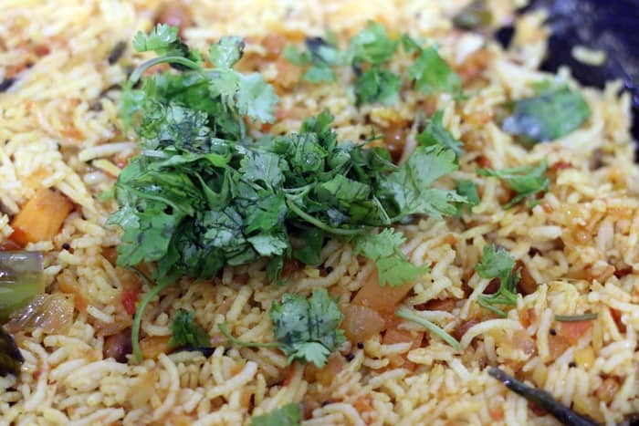 chopped coriander leaves added