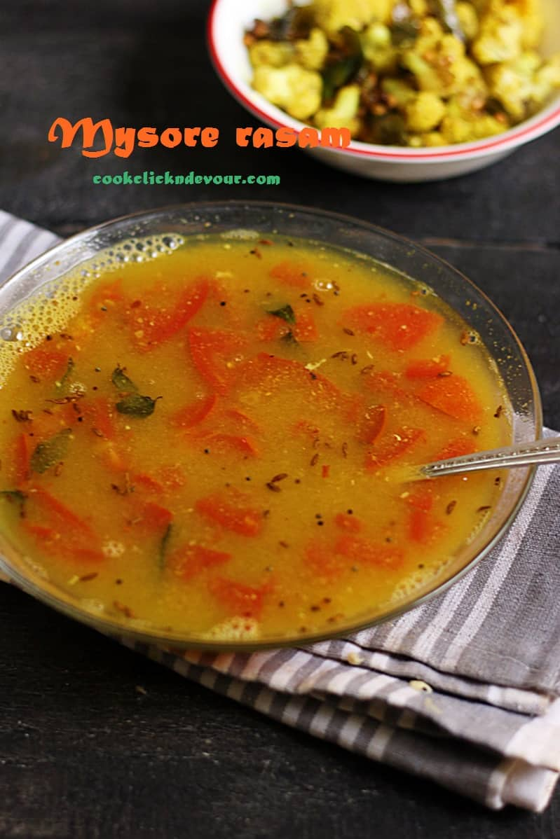 mysore rasam recipe
