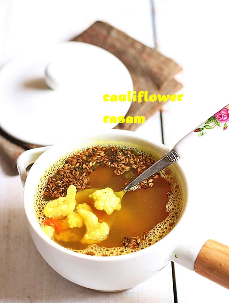 cauliflower rasam recipe