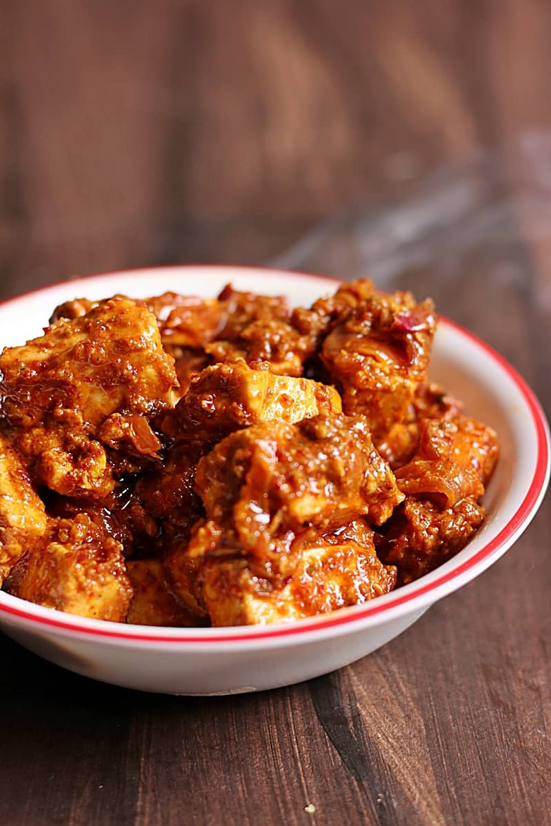 paneer ghee roast recipe c