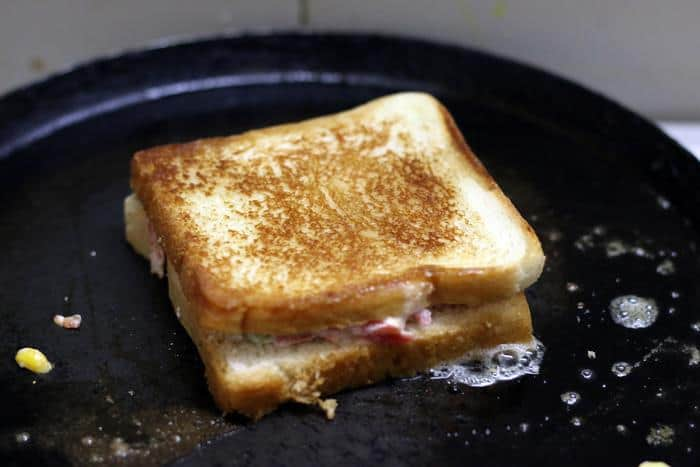 toasting curd sandwich recipe