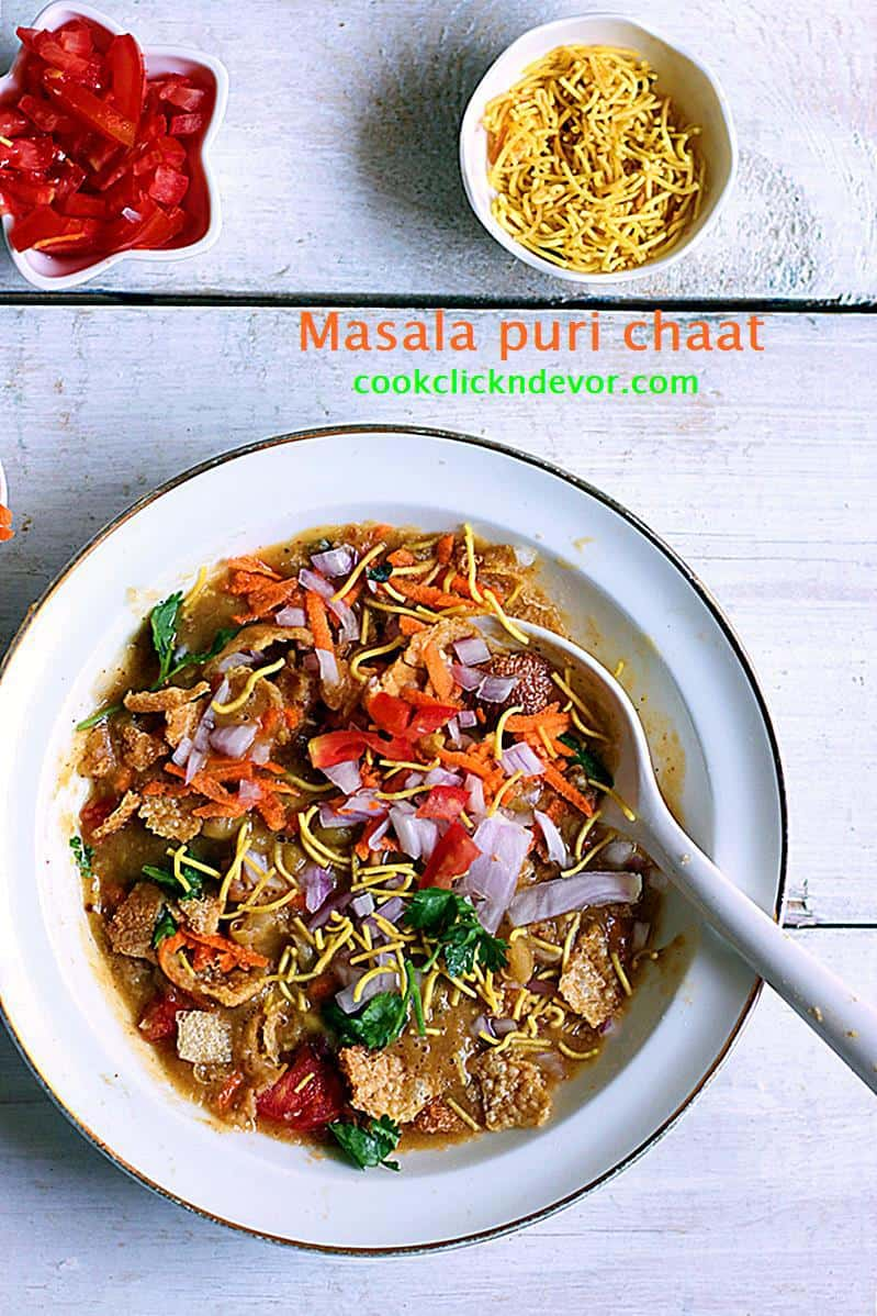 Masala puri chaat recipe Bangalore style