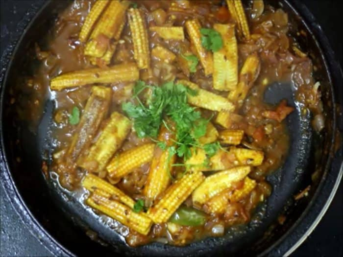 baby corn masala recipe