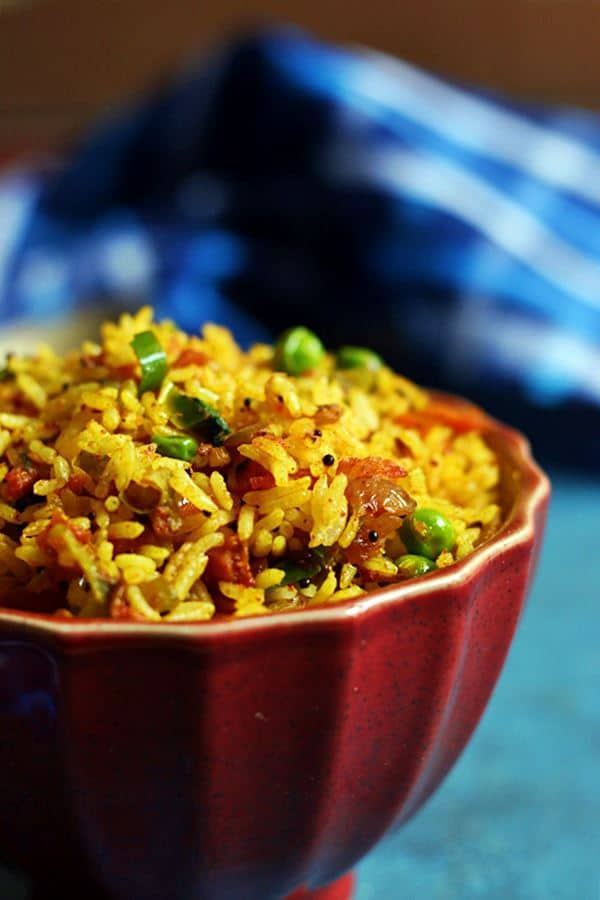 how to make easy masala rice recipe with video and step by step photos.