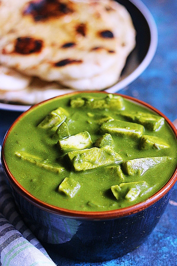 easy paneer spinach curry