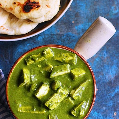 best papal paneer served with naan