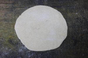 wheat dough rolled into small disc