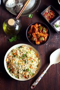 veg fried rice recipe, vegetable fried rice