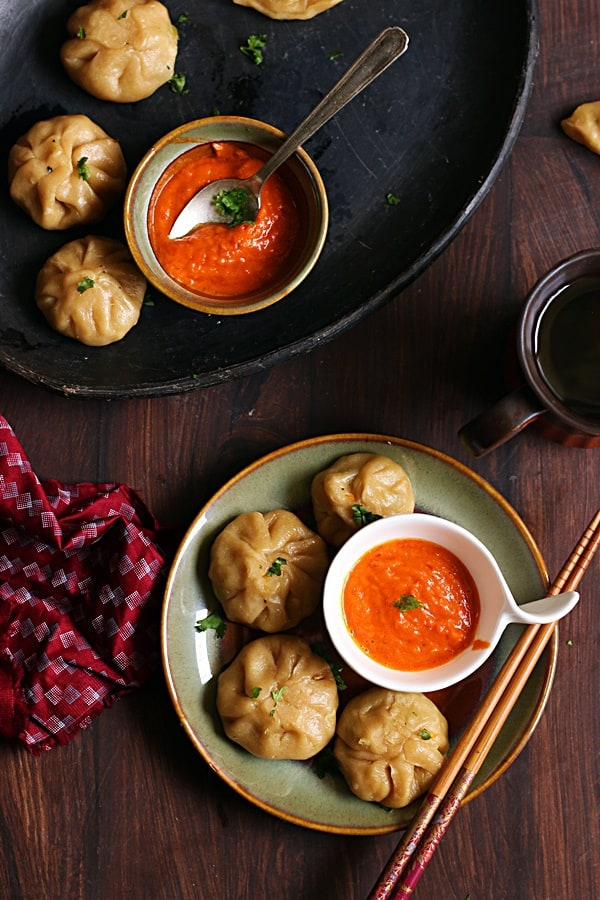 veg momos recipe, how to make veg momos