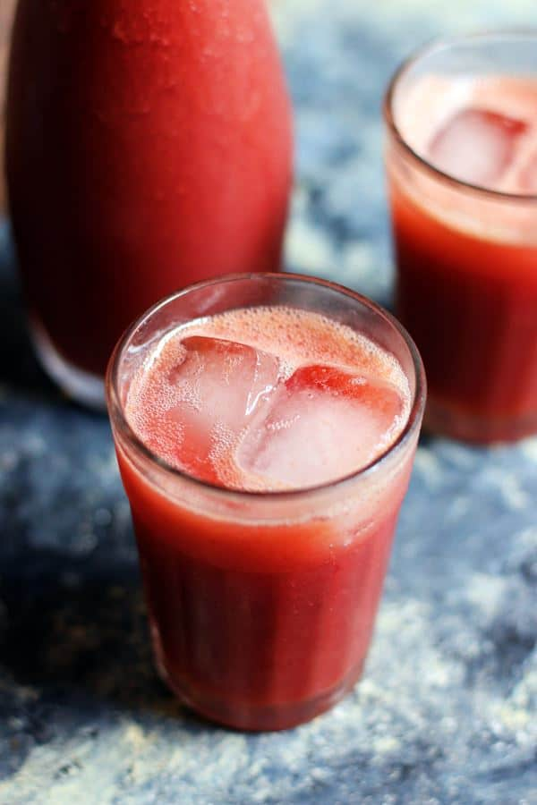 Closeup shot of homemade grape juice that is refreshing and healthy