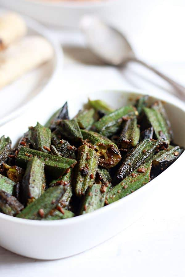 how to make punjabi bhindi fry recipe