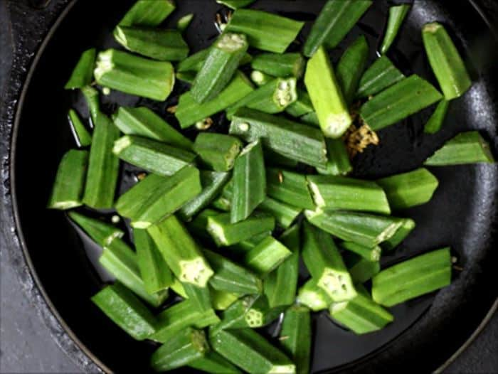 bhindi fry recipe steps