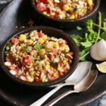 Mung bean salad recipe served as snack