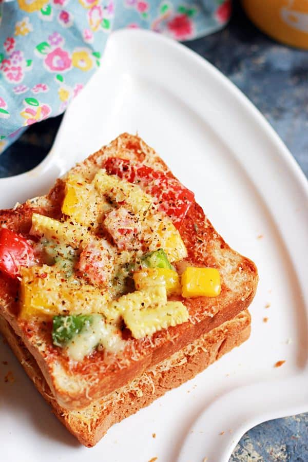pizza toast recipe