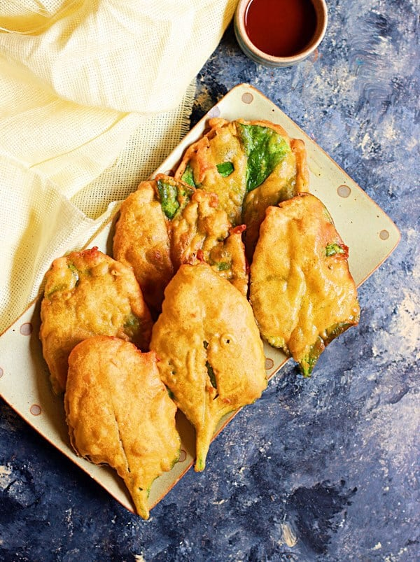 easy palak pakoda recipe