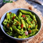 creamy spinach pasta recipe served with dinner