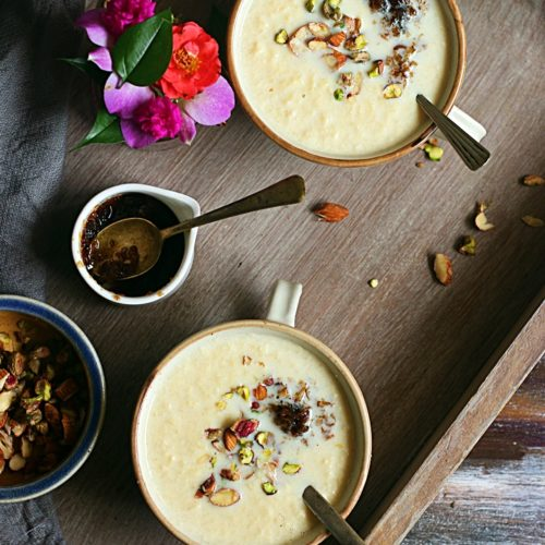 how to make apple kheer recipe
