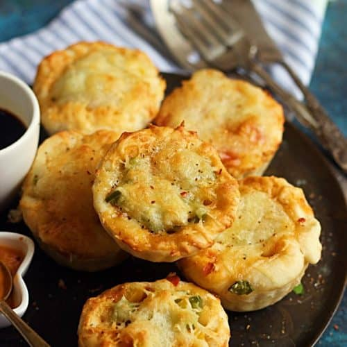 Pizza muffins recipe,how to make pizza muffins
